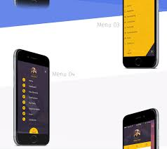 6 side menu mobile app ui u0026ux inspiration interface on behance