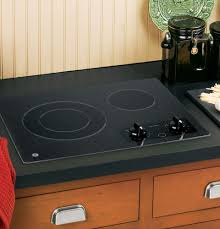 Ge Profile Ceramic Cooktop Replacement Ge Jp256bmbb 21 Inch Smoothtop Electric Cooktop With 2 Ribbon
