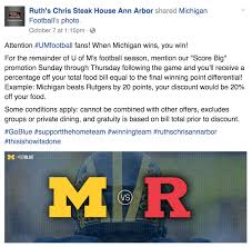ruth chris jim harbaugh u0027s team broke this ruth u0027s chris steak house discount