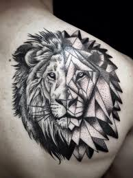lion tattoo geometric danielhuscroft com