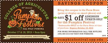 halloween city coupons 2015 pumpkin festival cal poly pomona