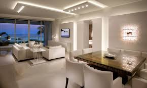 interior spotlights home awesome look of white house with striking interior lighting idea
