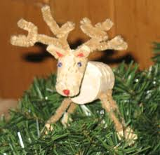 how to cork reindeer ornament
