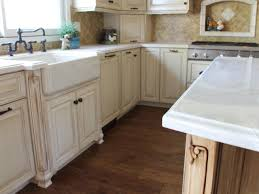 Antiqued White Kitchen Cabinets by Stunning Antique White Shaker Kitchen Cabinets Also Room Pepper