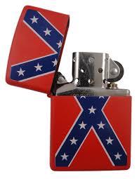 American Flag Zippo Confederate Rebel Flag Zippo Lighter Red