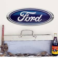 Vintage Ford Truck Decor - ford oval emblem die cut metal sign vintage garage signs