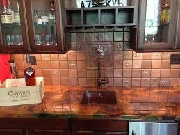 copper tiles for kitchen backsplash copper tile backsplash copper backsplash tiles lowes decor