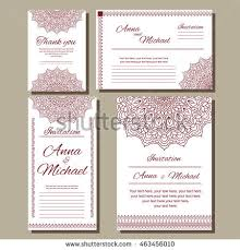 wedding invitation size set wedding invitations postcards different sizes stock vector