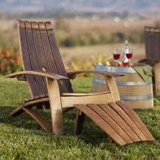 lovely wine barrel adirondack chairs on stunning home interior