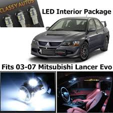 mitsubishi evo interior 2016 amazon com classy autos white led lights interior package for
