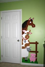 barnyard doorhugger paint by number wall mural wall murals barnyard doorhugger paint by number wall mural