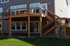 walk in basement house decks for walk out basements minneapolis deck builder