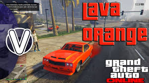 gta 5 online lava orange paint job gta 5 online rare crew paint