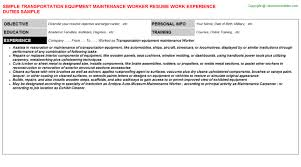Sample Resume For Maintenance Worker by Highway Maintenance Worker Resumes Samples