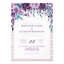 Purple And Silver Wedding Invitations Purple And Teal Wedding Invitations U0026 Announcements Zazzle