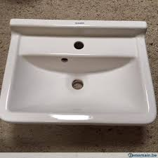 lavabo 50cm starck 3 blanc cache syphon 28 5x24cm neuf a