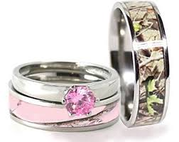 camo wedding rings his and hers camo wedding ring set for him and titanium stainless