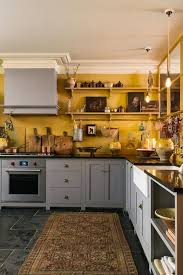 gray kitchen cabinets yellow walls 25 bright grey and yellow kitchen decor ideas digsdigs