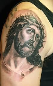 tattoos gallery world shoulder and arm jesus christ tattoo designs