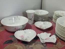 mikasa april rose bone china 82 pcs 12 6 pc settings local pickup