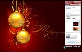red christmas windows 7 theme with music download