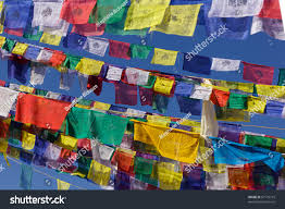 Plastic Flags Colorful Tibetan Prayer Flags Nepal Stock Photo 67179715