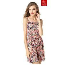 cute spaghetti strapped square neck short summer dress miracas