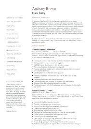 Data Entry Resume Sample Resume Of Data Entry Clerk Data Entry Clerk Cover Letter