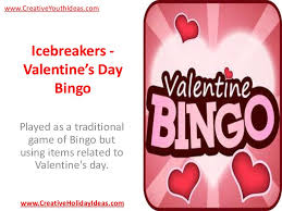 s day bingo icebreakers s day bingo
