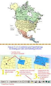 canada states map america canada usa and mexico powerpoint map states and