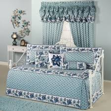 Daybed Cover Sets Decor Pattern Luxury Daybed Cover Sets In Blue With White Paint