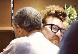 Obama Kitchen Cabinet - obama hugs harper reed technology genius the kitchen cabinet us