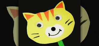 stick paper how to make a simple paper cat stick puppet with your kids kids
