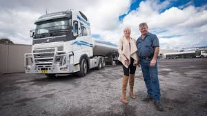 volvo truck factory a mooving success for milk business the singleton argus
