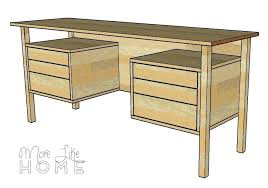 Diy Rustic Desk How To Build A Desk With Drawers Ed Ex Me