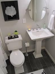Gray Floor Bathroom - gray owl design ideas