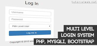membuat login dengan php di dreamweaver multi level login dengan php mysql dan bootstrap tutorial web