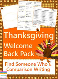 welcome back from thanksgiving writing activities no prep ela lesson