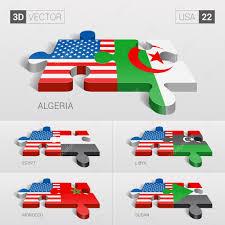 Libyas Flag Usa And Algeria Egypt Libya Morocco Sudan Flag 3d Vector
