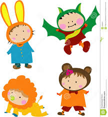 kiddie cartoon halloween background cute kid costume stock image image 3368591