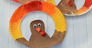 turkey plate craft paper plate turkey craft the resourceful