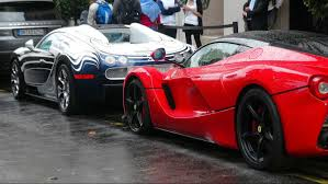 laferrari crash bugatti veyron hits ferrari laferrari and left like nothing