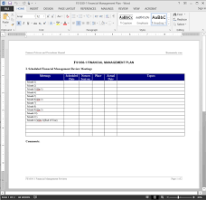 cfo report template financial management review report template
