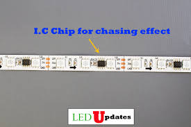 chase effect dream color led light strip with ul power supply