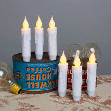 Electric Candles For Windows Decor Decorating Resin Mini Taper Flameless Candles With Timer For Home