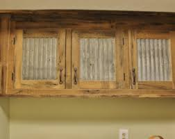 Reclaimed Kitchen Cabinet Doors Rustic Tall Storage Reclaimed Barn Wood Cabinet W Tin Doors