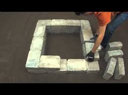 How To Build A Square Brick Fire Pit - how to install a fresco fire pit kit square youtube