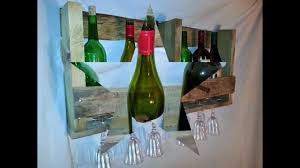 wall mounted rustic wine rack glass holder youtube