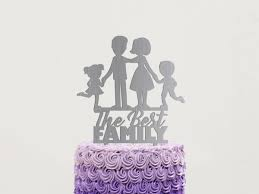 best family cake topper rustic wedding cake topper silhouette