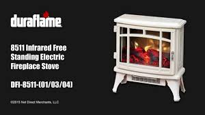Duraflame Electric Fireplace Duraflame 8511 Free Standing Electric Stove Youtube